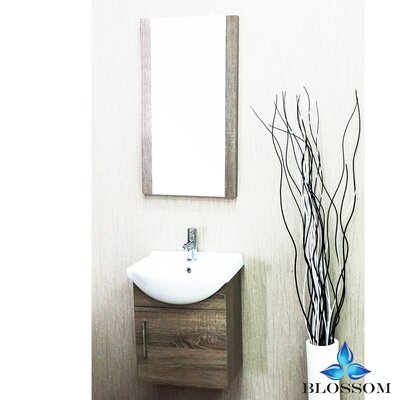 Conrad 18 Single Bathroom Vanity Set with Mirror Base Finish: Cart Oak