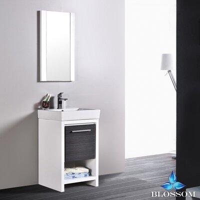 Artemis Modern 20 Single Bathroom Vanity Set with Mirror Base Finish: Glossy White/Silver Gray