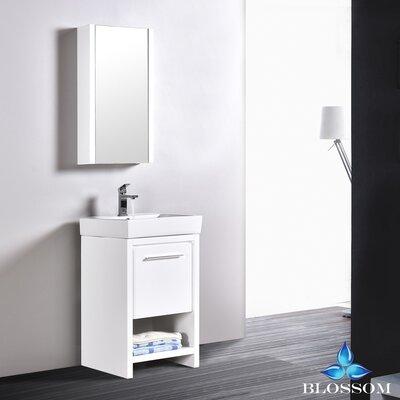 Artemis 20 Single Bathroom Vanity Set with Mirror Base Finish: Glossy White