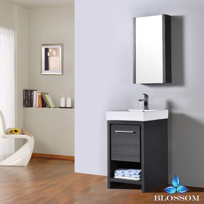 Artemis 20 Single Bathroom Vanity Set with Mirror Base Finish: Silver Gray