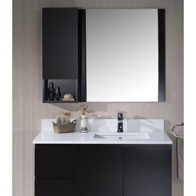 Maly 42 Single Bathroom Vanity Set with Rectangular Mirror Base Finish: Espresso