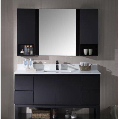 Maly 54 Single Bathroom Vanity Set with Mirror Base Finish: Espresso