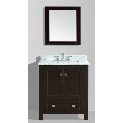 Brier 30 Single Bathroom Vanity Set with Mirror Base Finish: Espresso