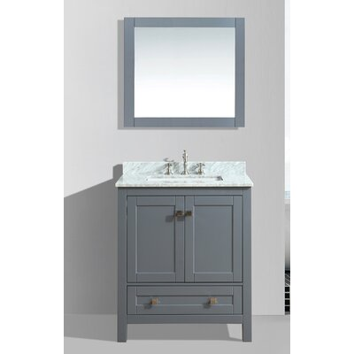 Brier 30 Single Bathroom Vanity Set with Mirror Base Finish: Charcoal Gray