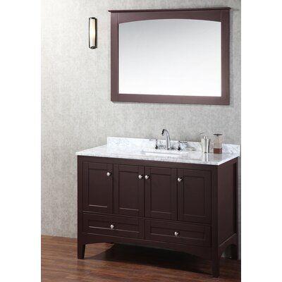 Brier 48 Single Bathroom Vanity Set with Mirror Base Finish: Espresso