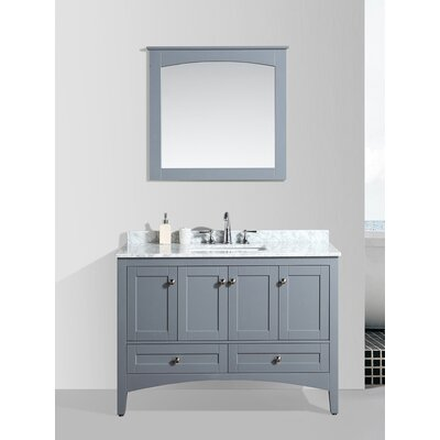Brier 48 Single Bathroom Vanity Set with Mirror Base Finish: Charcoal Gray