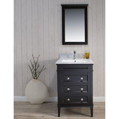 Briese 25 Single Bathroom Vanity Set with Mirror Base Finish: Espresso