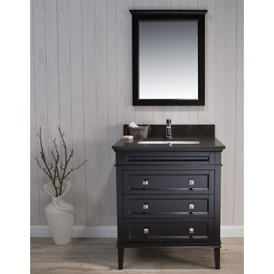 Briese Traditional 31 Single Bathroom Vanity Set with Mirror Base Finish: Espresso