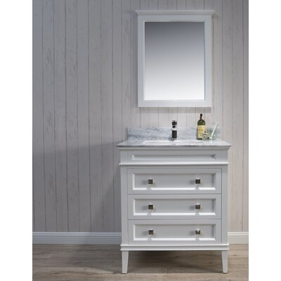 Briese 31 Single Bathroom Vanity Set with Mirror Base Finish: Matte White