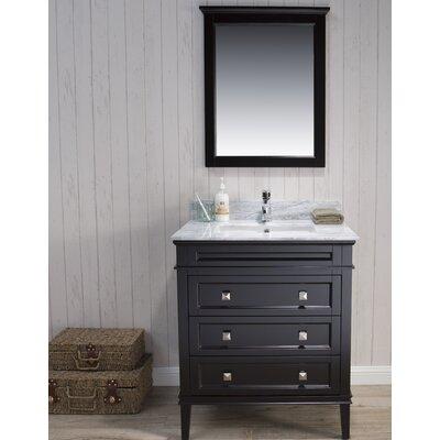 Briese 31 Single Bathroom Vanity Set with Mirror Base Finish: Espresso