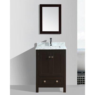 Brier 24 Single Bathroom Vanity Set with Mirror Base Finish: Espresso