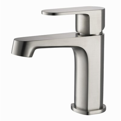 Sancy Single Hole Single Handle Bathroom Faucet Finish: Brush Nickel