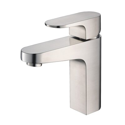 Chloe Single Hole Single Handle Bathroom Faucet Finish: Brush Nickel