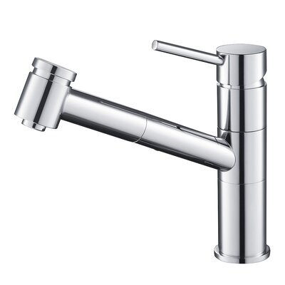 Pull Down Single Handle Kitchen Faucet Finish: Chrome
