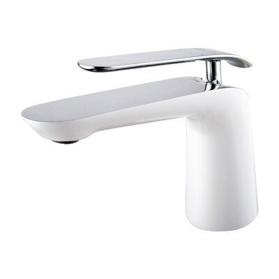 Single Hole Single Handle Bathroom Faucet Finish: Chrome/White
