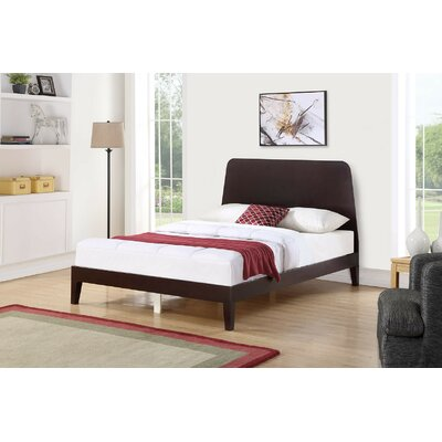 Woodell Panel Bed Color: Espresso, Size: King