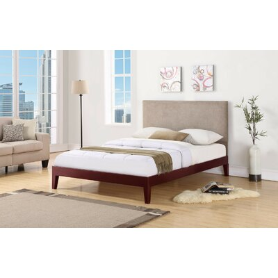 Wroten Upholstered Bed Size: Queen, Color: Cherry, Upholstery: Taupe