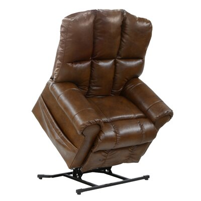 Stallworth Power Lift Assist Recliner Body Fabric: Brown