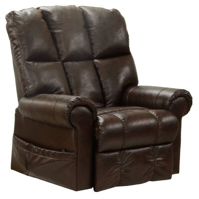 Stallworth Power Lift Assist Recliner Body Fabric: Dark Brown