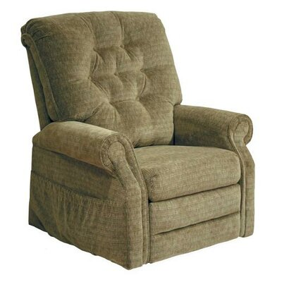Patriot Powr Full Lay-Out Lift Chair Upholstery: Celery