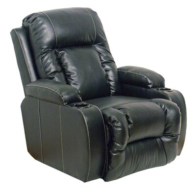 Top Gun Power Recliner Reclining Type: Power, Body Fabric: Black
