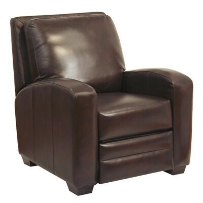 Avanti Multi-Position Bonded Leather Push Back Recliner Upholstery: Chocolate