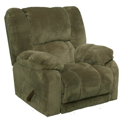 Hogan Inch Away Chaise Wall Hugger Recliner Upholstery: Sage