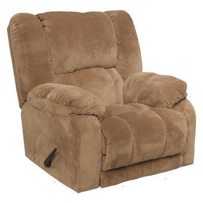 Hogan Inch Away Chaise Wall Hugger Recliner Upholstery: Camel