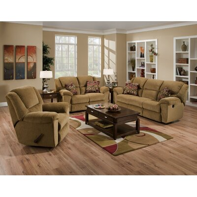 Transformer Reclining Loveseat Body Fabric: Beige/Havana