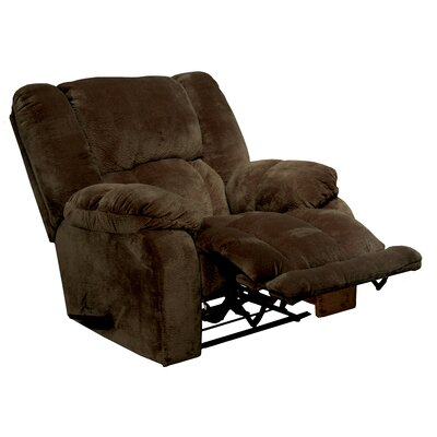 Hogan Inch Away Chaise Wall Hugger Recliner Upholstery: Chocolate