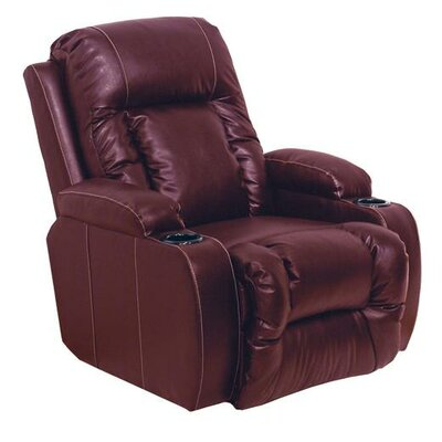 Top Gun Power Recliner Reclining Type: Manual, Body Fabric: Red