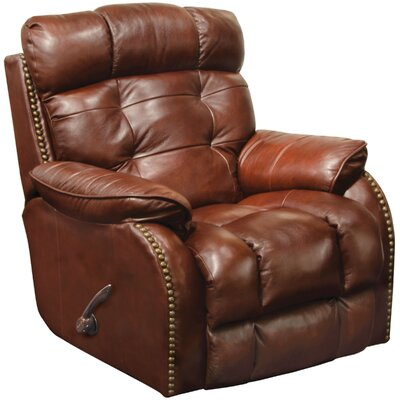 Patterson Glider Recliner Body Fabric: Walnut, Reclining Type: Manual