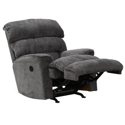 Pearson No Motion Recliner Body Fabric: Charcoal, Reclining Type: Manual