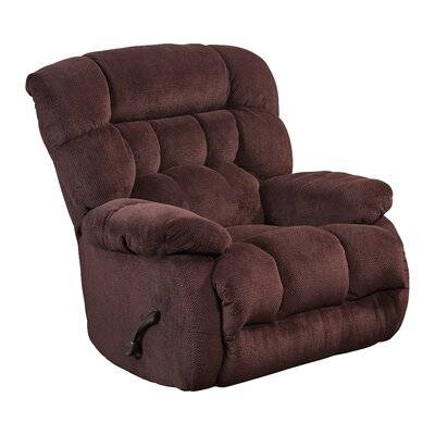 Daly No Motion Recliner Body Fabric: Cranapple, Reclining Type: Power, Motion Type: Full-Extension
