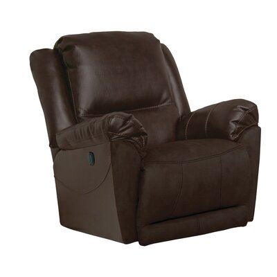 Maverick Swivel Recliner Body Fabric: Java, Reclining Type: Manual