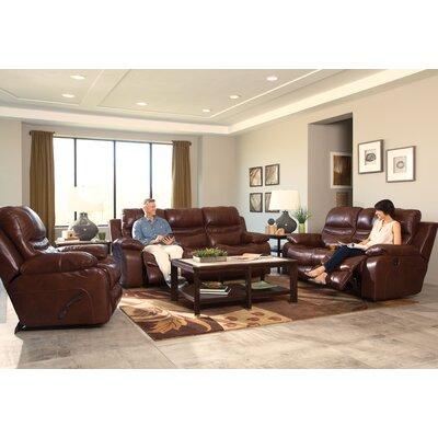 Patton Reclining Loveseat Body Fabric: Walnut, Reclining Type: Manual