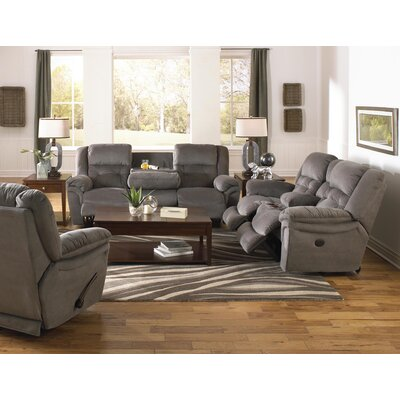 Joyner Reclining Loveseat Body Fabric: Slate, Reclining Type: Manual