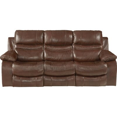 Patton Reclining Sofa Body Fabric: Walnut, Reclining Type: Power