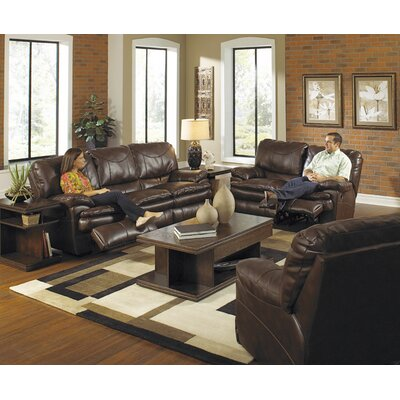 Perez Reclining Console Loveseat Body Fabric: Chestnut, Reclining Type: Manual
