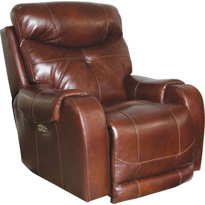 Venice No Motion Power Recliner Body Fabric: Walnut, Lumbar Support: Yes