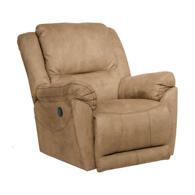 Maverick Swivel Recliner Body Fabric: Stone, Reclining Type: Power