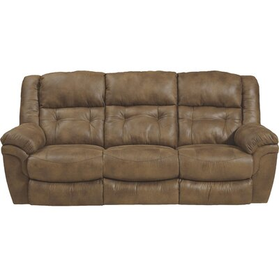Joyner Reclining Sofa Body Fabric: Almond, Reclining Type: Manual