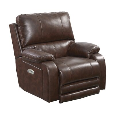Thornton No Motion Power Recliner Body Fabric: Java, Lumbar Support: No