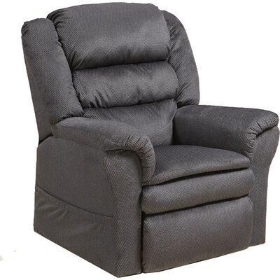 Preston No Motion Power Recliner Body Fabric: Smoke