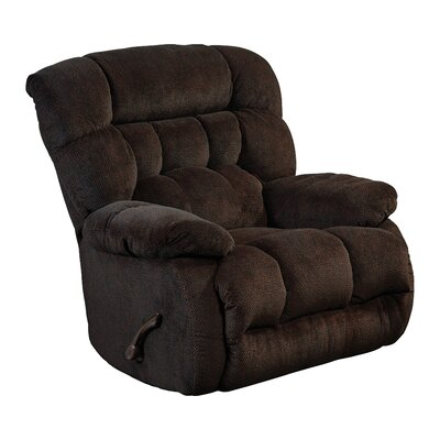 Daly No Motion Recliner Body Fabric: Chocolate, Reclining Type: Manual, Motion Type: Swivel Glider