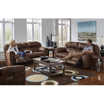 Ferrington Reclining Sofa Body Fabric: Sunset, Lumbar Support: No