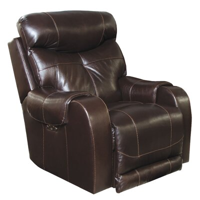 Venice No Motion Power Recliner Body Fabric: Chocolate, Lumbar Support: No