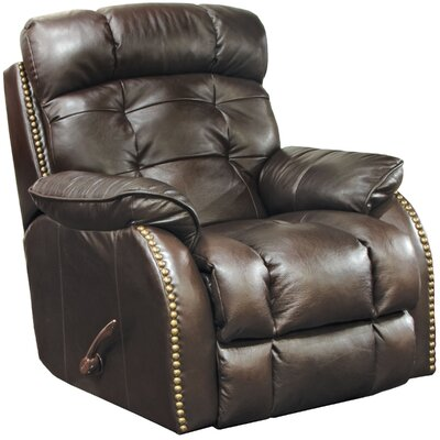 Patterson Glider Recliner Body Fabric: Chocolate, Reclining Type: Manual