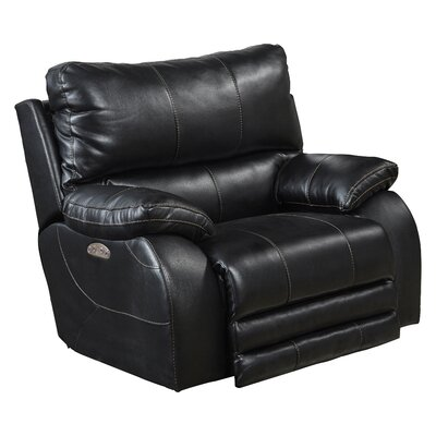 Sheridan No Motion Power Recliner Body Fabric: Black, Lumbar Support: No