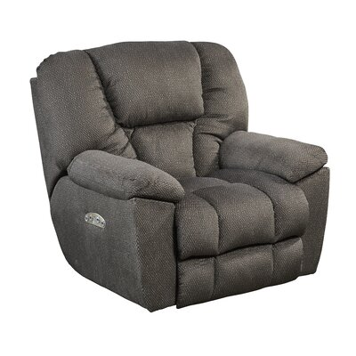 Owens No Motion Power Recliner Body Fabric: Seal, Lumbar Support: No